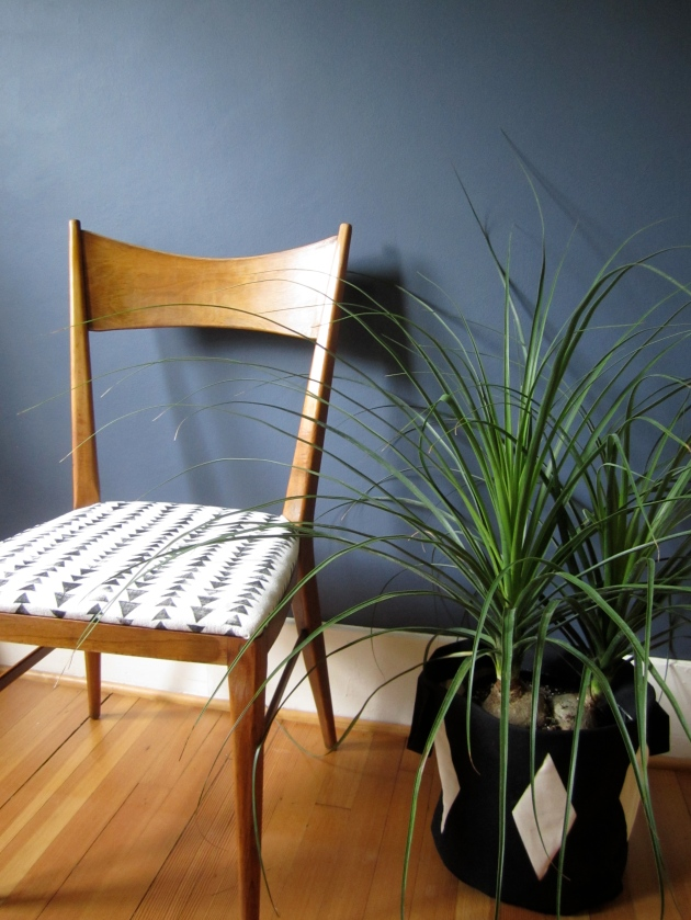 chair and planter