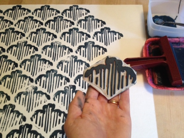 Stamping the background