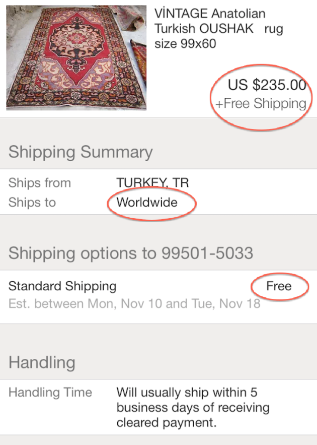 Red House West||Buying Rugs on Ebay