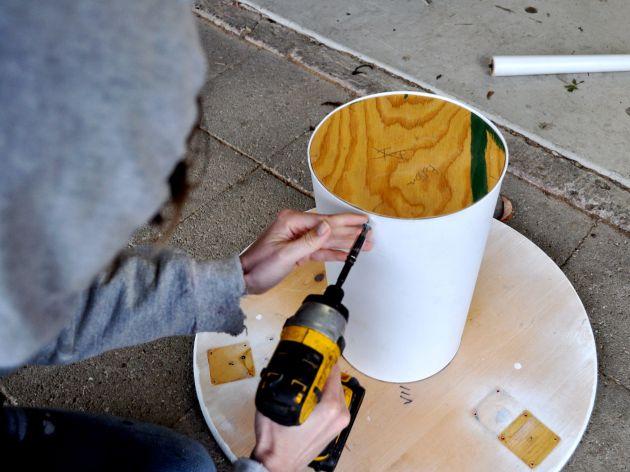 Red House West//DIY Concrete Pedestal Table